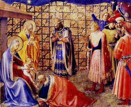 Epifania do Senhor: os Reis Magos representando a humanidade aos pés do Salvador