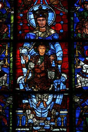 A Virgem Azul - Catedral de Chartres - Vitrais